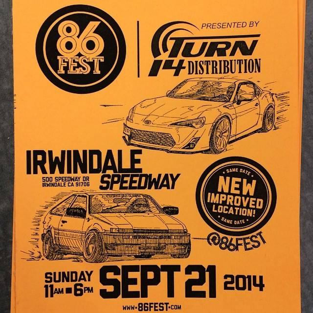 86FEST, 86FEST 2014, 86FEST 3, Irwindale Speedway, FRS, BRZ, AE86