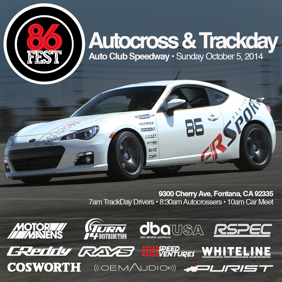 86FEST, Autocross, Trackday, Speed Ventures, Fontana, Auto Club Speedway