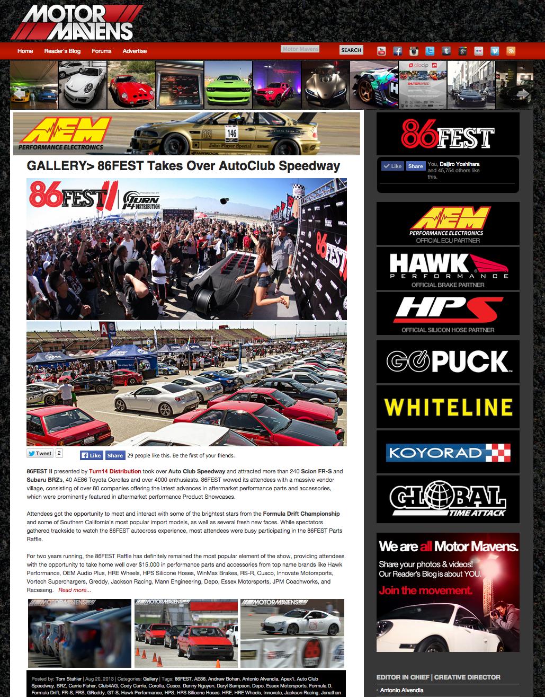 MotorMavens, 86FEST, Auto Club Speedway, Speedventures
