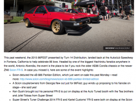 SR by TOYOTA » 86FEST 2015 Coverage